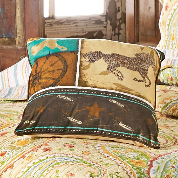 Wildflower Paisley Horse Pillow
