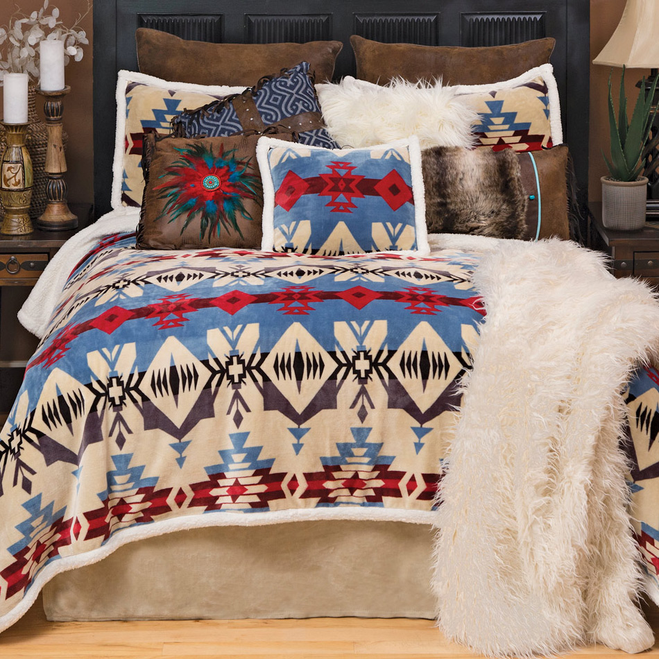 Wind River Plush Bed Set - Queen
