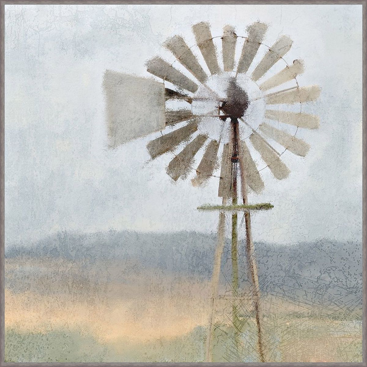 Windmill Scene Canvas Art