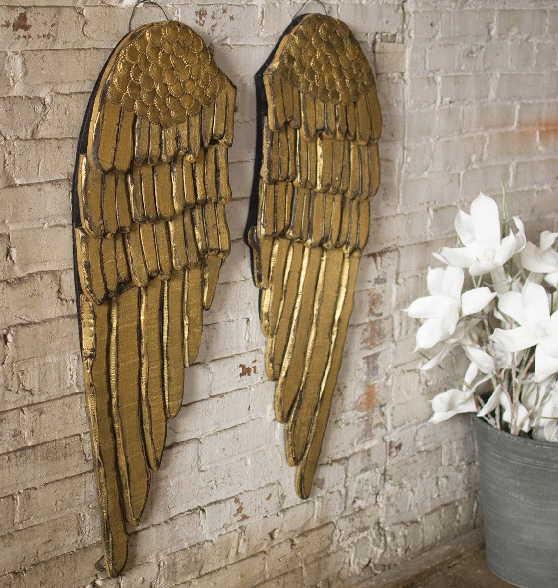 Wings Of Gold Wall Hanging Set Of 2