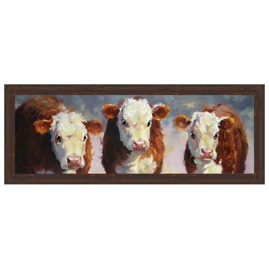 Winter Calves Framed Print
