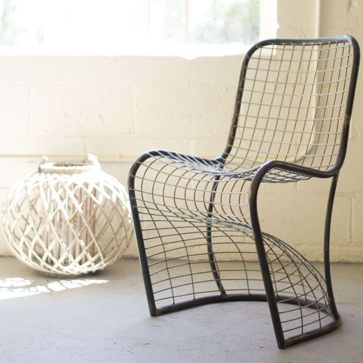 Wire Basket Dining Chair
