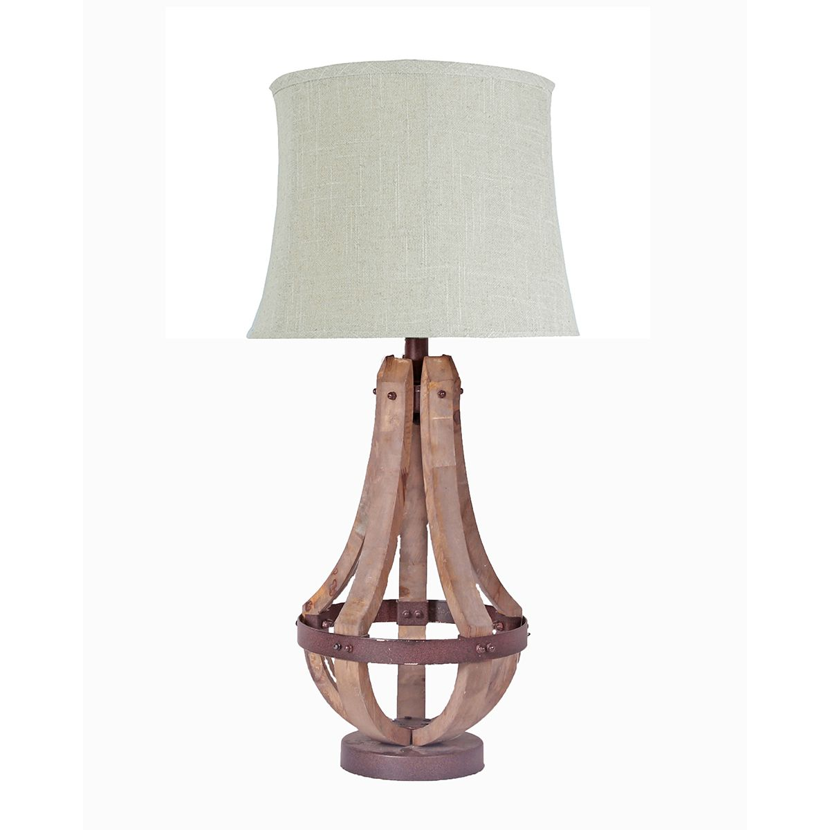 Wood Cage Table Lamp