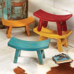 Wood Santa Fe Sitter Stool Collection