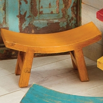 Wood Santa Fe Sitter Stool - Orange