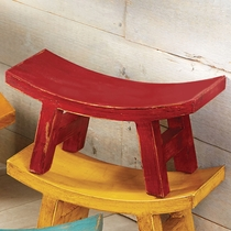 Wood Santa Fe Sitter Stool - Red