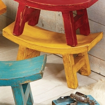 Wood Santa Fe Sitter Stool - Yellow