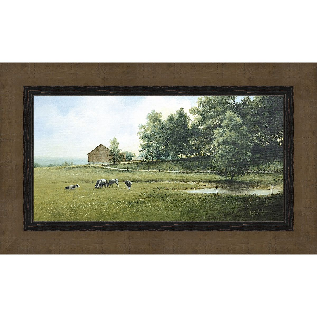 Wooded Escape Framed Print