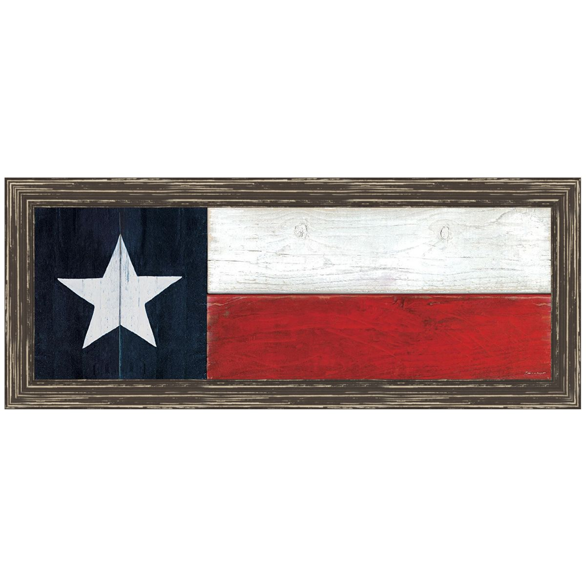 Wooden Texas Flag Wall Art