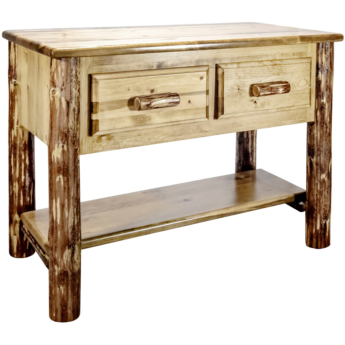 Woodsman Console Table with 2 Drawers