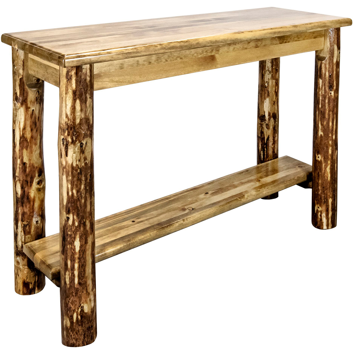 Woodsman Console Table with Shelf