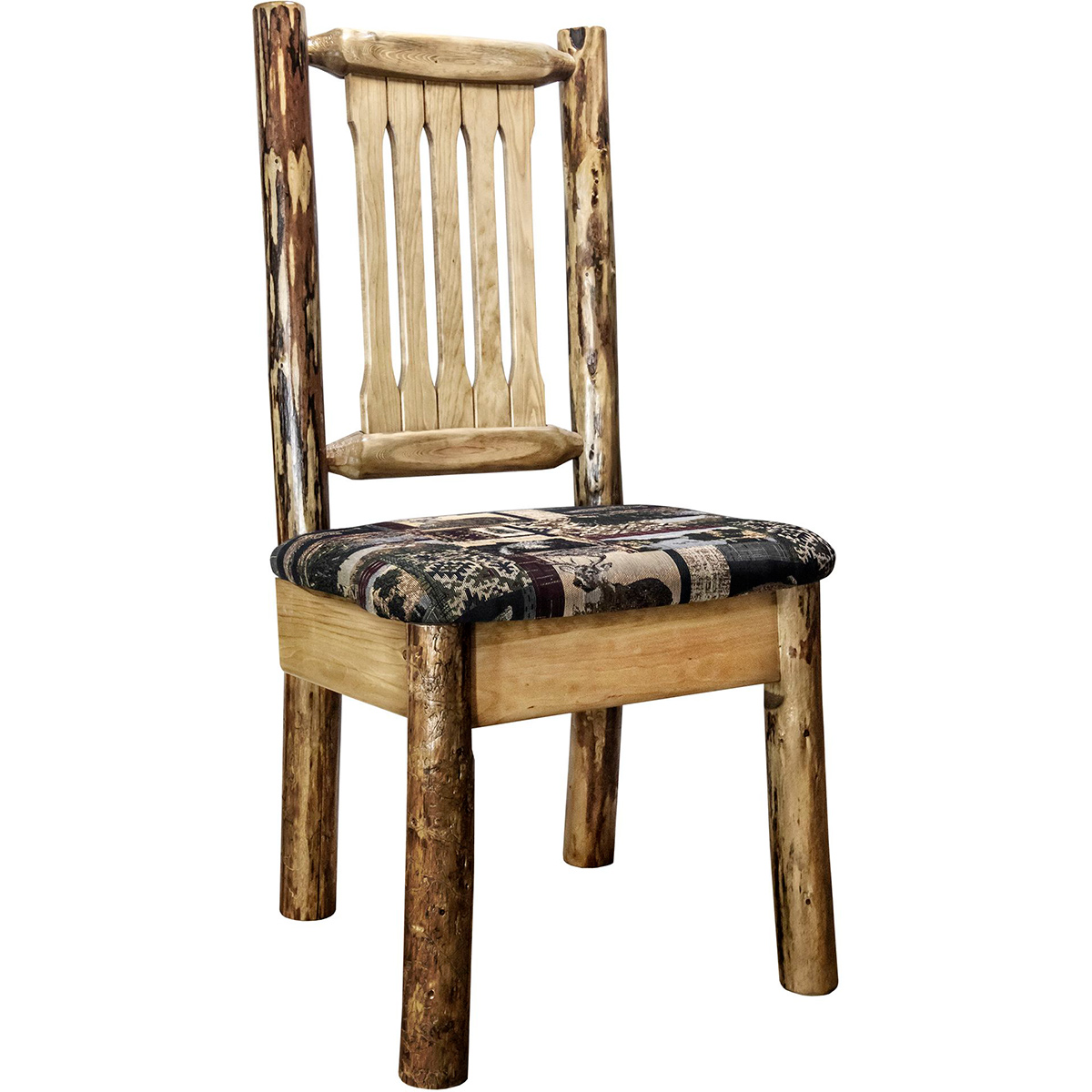 Woodsman Side Chair with Woodland Upholstered Seat