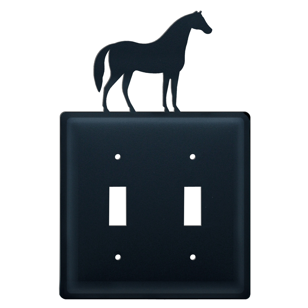Wrought Iron Horse Double Switch Cover