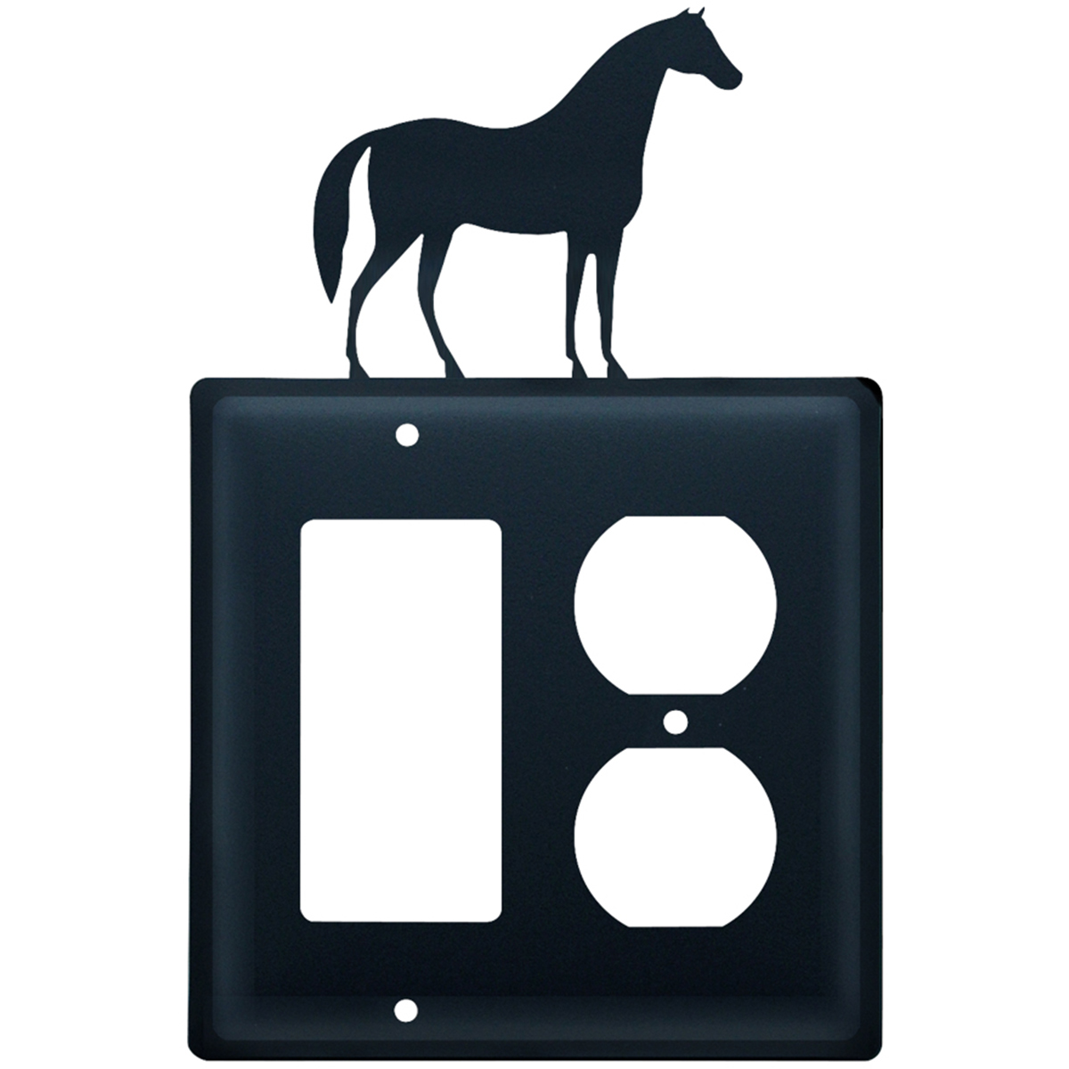 Wrought Iron Horse GFI & Outlet Cover