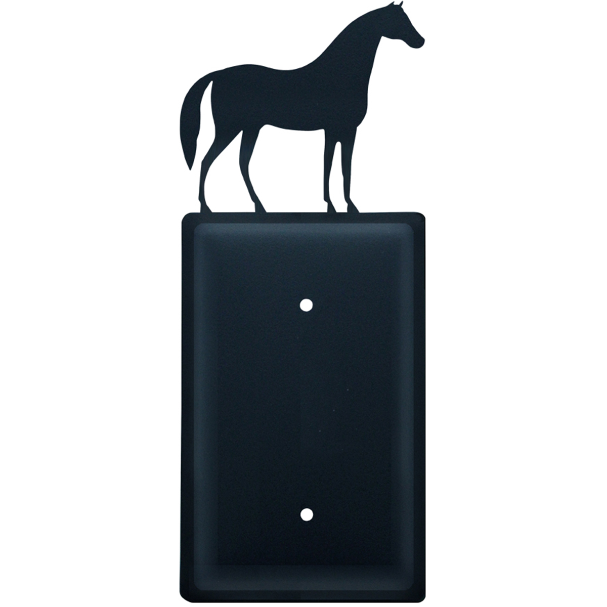Wrought Iron Horse Single Electrical Cover