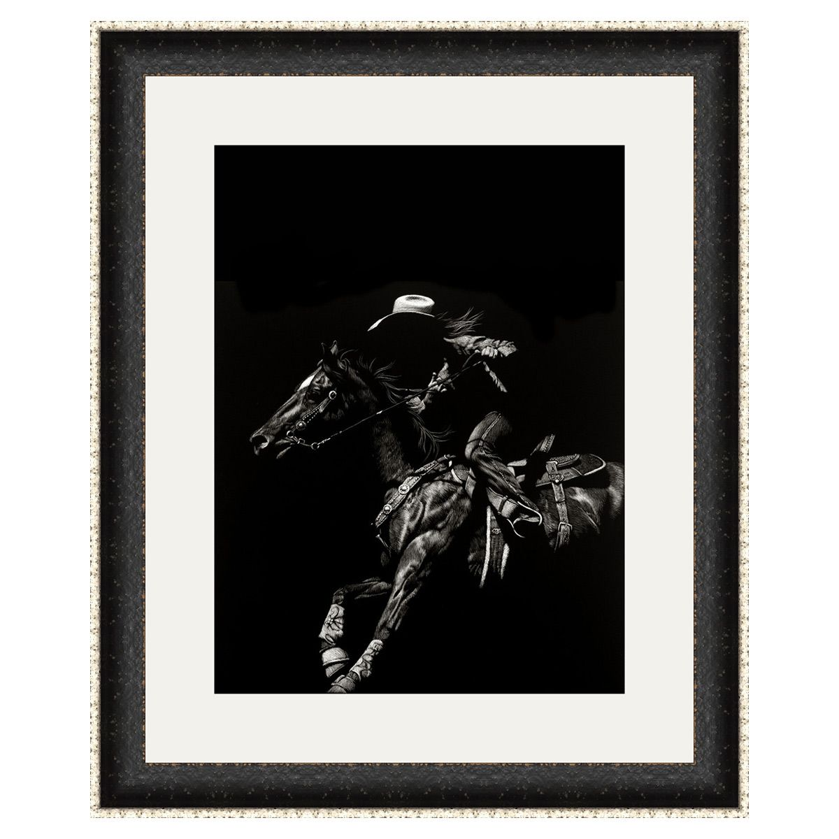 Wyoming Rodeo I Framed Art