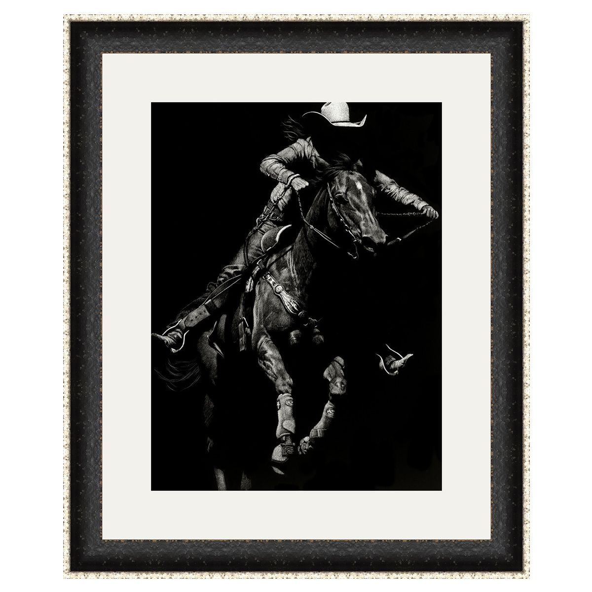 Wyoming Rodeo II Framed Art
