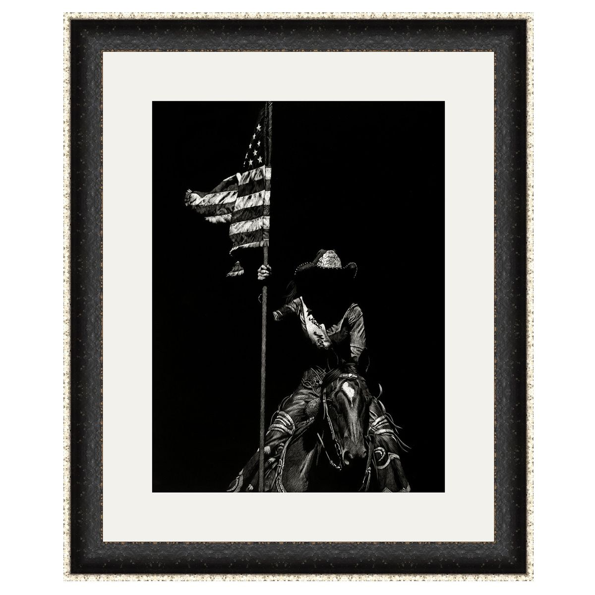 Wyoming Rodeo III Framed Art