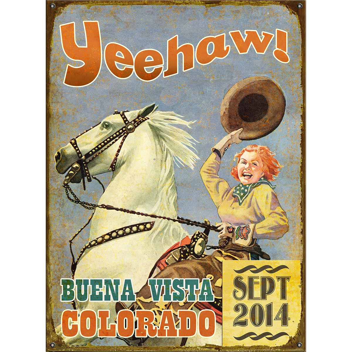 Yeehaw Cowgirl Personalized Sign - 23 x 31