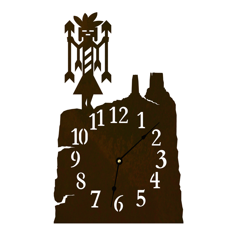 Yei Table Clock - Rust