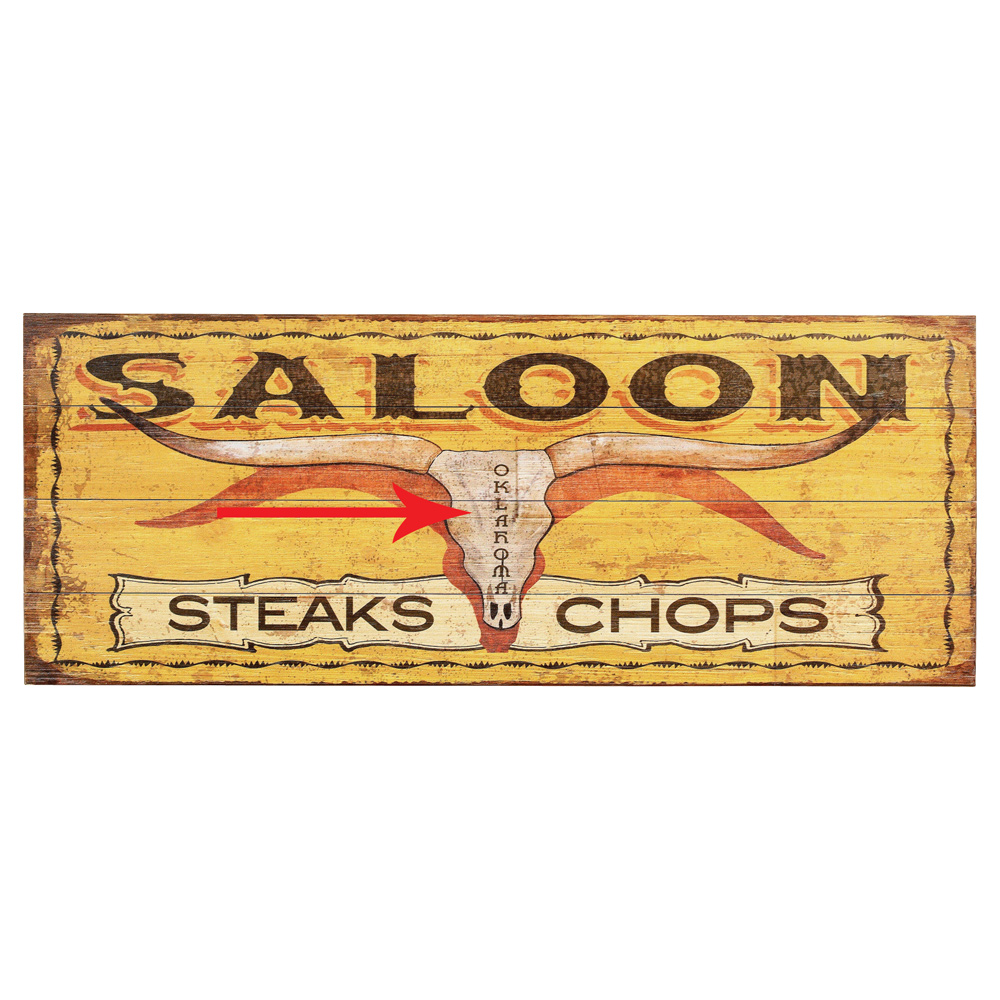 Yellow Saloon Personalized Sign