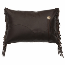 Yellowstone III Rectangular Pillow with Leather Reverse