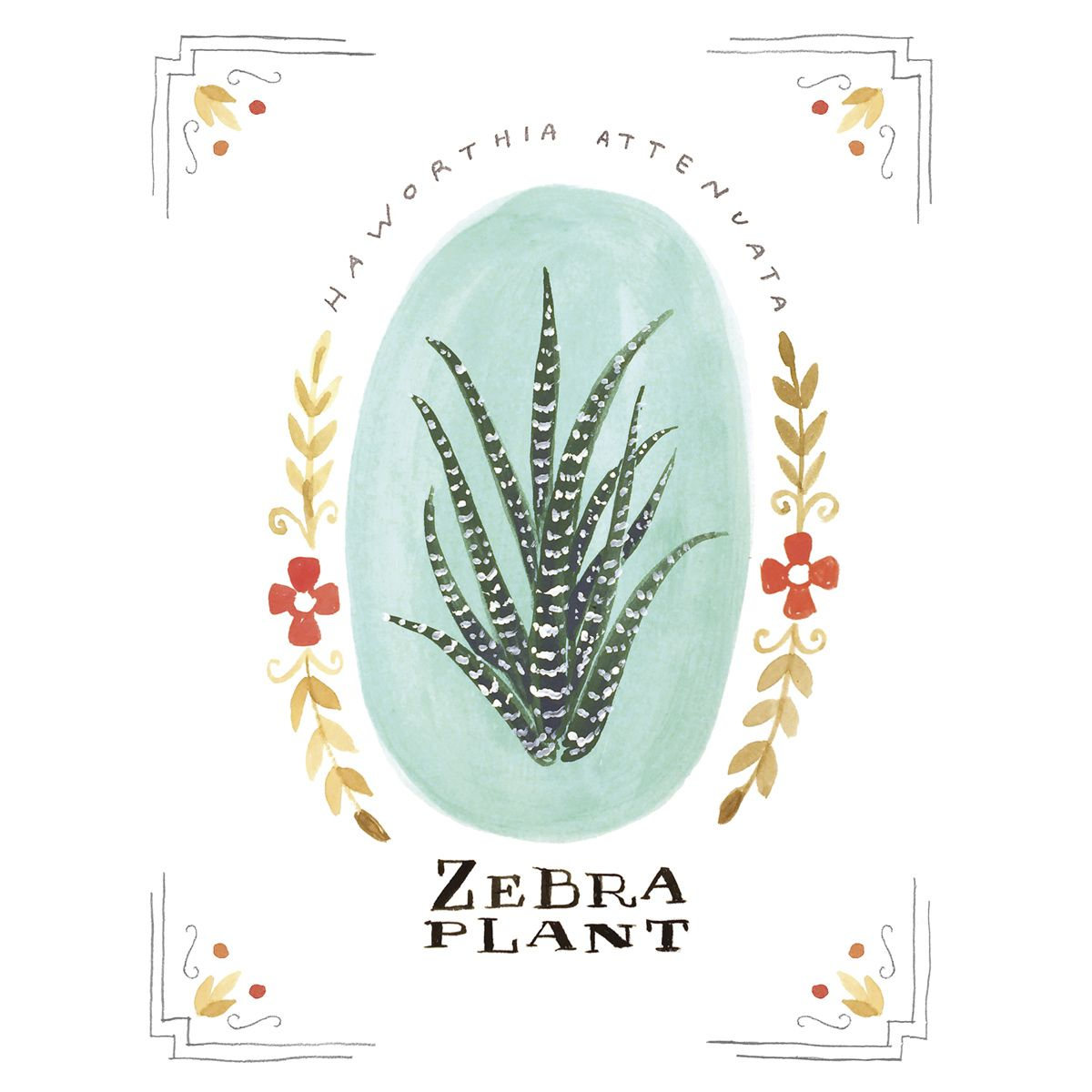 Zebra Blooms Canvas Art