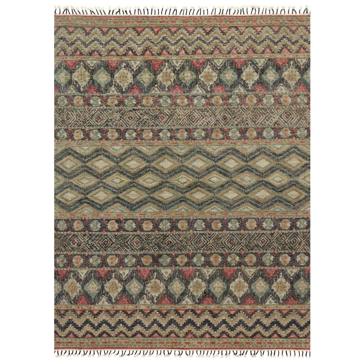 Zigzag Diamonds Rug - 9 x 13