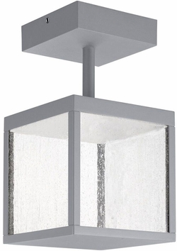 Access Reveal LED Outdoor Semi Flush Ceiling Light - Gray/Seeded 20084LED-SG/SDG