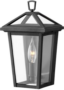 """Hinkley Alford Place 11.25"""" LED Outdoor Wall Lighting - Museum Black 2566MB-LL"""