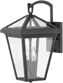 """Hinkley Alford Place 14"""" Outdoor Lamp Sconce - Museum Black 2560MB"""