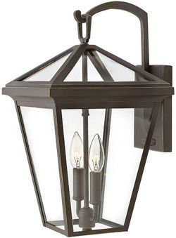 """Hinkley Alford Place 17.5"""" Exterior Wall Mounted Lamp - Oil Rubbed Bronze 2564OZ"""