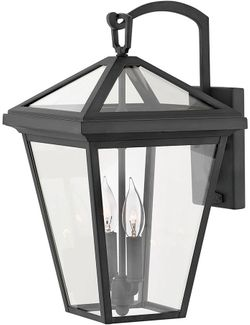 """Hinkley Alford Place 17.5"""" Outdoor Wall Lighting Sconce - Museum Black 2564MB"""