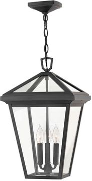 "Hinkley Alford Place 19.5"" Outdoor Pendant Light Fixture - Museum Black 2562MB"