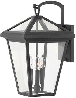 """Hinkley Alford Place 20.5"""" Outdoor Wall Lighting Fixture - Museum Black 2565MB"""