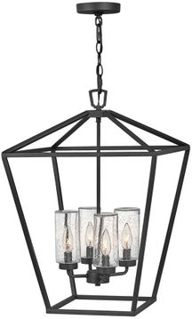 """Hinkley Alford Place 24.5"""" LED Outdoor Pendant Light - Museum Black 2567MB-LL"""