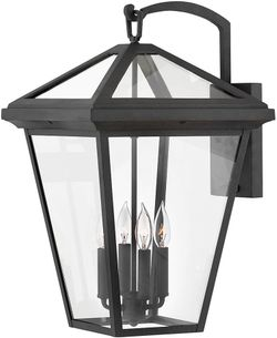 """Hinkley Alford Place 24"""" LED Outdoor Lamp Sconce - Museum Black 2568MB-LL"""