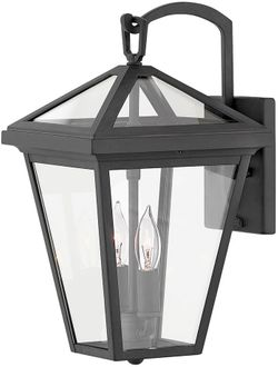 """Hinkley Alford Place 14"""" LED Outdoor Wall Sconce Lighting - Museum Black 2560MB-LL"""