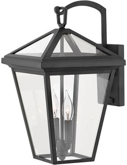 "Hinkley Alford Place 17.5"" LED Outdoor Wall Sconce Lighting - Museum Black 2564MB-LL"