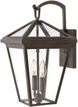 """Hinkley Alford Place 17.5"""" LED Exterior Wall Light Sconce - Oil Rubbed Bronze 2564OZ-LL"""