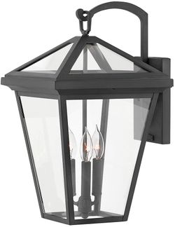 """Hinkley Alford Place 20.5"""" LED Outdoor Wall Light Sconce - Museum Black 2565MB-LL"""