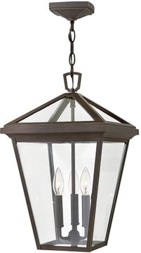 """Hinkley Alford Place 19.5"""" LED Exterior Hanging Pendant Light - Oil Rubbed Bronze 2562OZ-LL"""