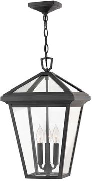 "Hinkley Alford Place 19.5"" LED Outdoor Pendant Lighting Fixture - Museum Black 2562MB-LL"