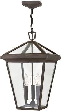 """Hinkley Alford Place 19.5"""" Exterior Hanging Pendant Lighting - Oil Rubbed Bronze 2562OZ"""