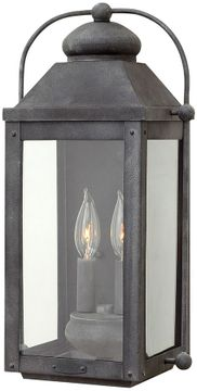 """Hinkley Anchorage 17.75"""" LED Exterior Wall Light Fixture - Aged Zinc 1854DZ-LL"""