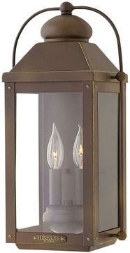 "Hinkley Anchorage 17.75"" LED Outdoor Wall Lighting Sconce - Light Oiled Bronze 1854LZ-LL"