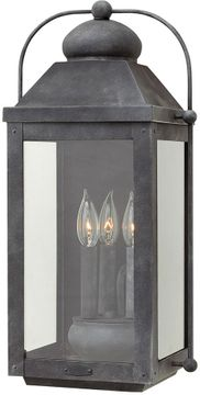 "Hinkley Anchorage 21.25"" LED Exterior Wall Mounted Lamp - Aged Zinc 1855DZ-LL"