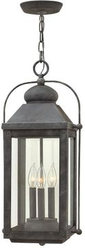 "Hinkley Anchorage 23.75"" LED Exterior Pendant Lamp - Aged Zinc 1852DZ-LL"