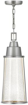 "Hinkley Miles 18.25"" LED Exterior Hanging Lamp - Satin Nickel 2552SI"