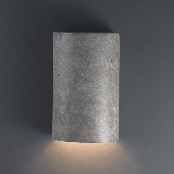 Justice Design Group Small Cylinders Ceramic Outdoor Wall Sconce